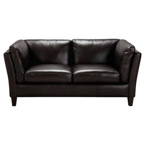 Santos Leather Small 2 seater  Sofa Chocolate