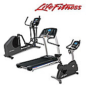 Life Fitness Life Fitness Go Package - F1 Treadmill, C1 Cycle and E1 Elliptical with Go Consoles