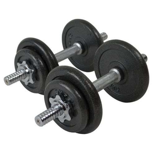 One Body 20kg Cast Iron Weight Set in Plastic Case