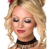 Smiffy's - Eyelashes - Glamour with Black Crystals