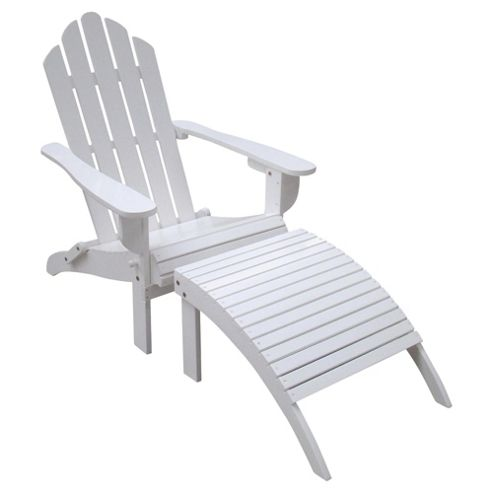 Tesco Wooden Steamer Sun Lounger