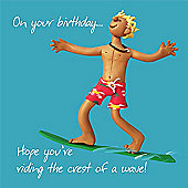 Holy Mackerel Birthday - Crest Of a Wave!Greetings Card