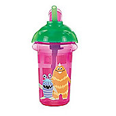 Disney Baby Click Lock 9oz Flip Straw Cup Monsters Inc Pink