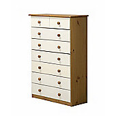 6 + 2 Chest of Drawers in Antique and White