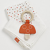 Natures Purest Woodland Friends - Toadstool Teether & Muslin Gift Set