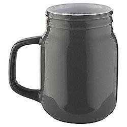 Jam Jar Mug, Grey