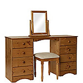 Scandinavian Pine Dressing Table - Stool - Mirror Package