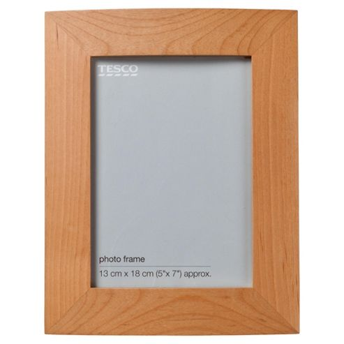 Tesco curve light wood frame 5x7