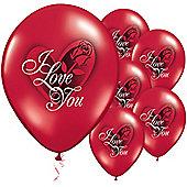 """I Love You Rose Balloons - 11"""" Latex (25pk)"""