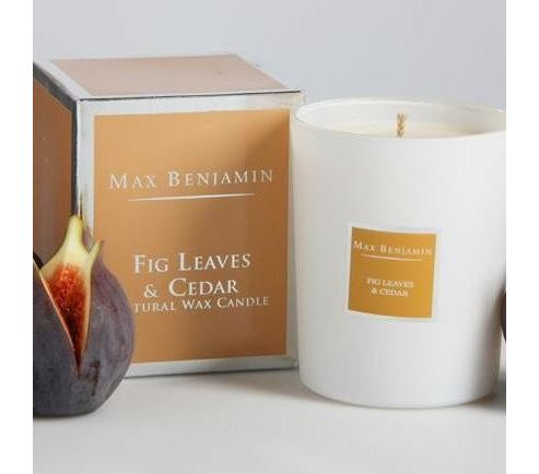 Max Benjamin candle, fig leaf and cedar