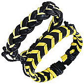 Urban Male 'Waikiki' Leather Surf Bracelet Pack for Men in Yellow & Black