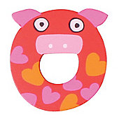 Tatiri Crazy Animals Letter O (Red Pig)
