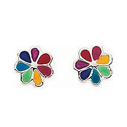 Kids Multi Colour Dinky Daisy Stud Earrings