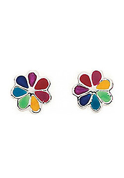 Kids Multi Colour Dinky Daisy Stud Earrings