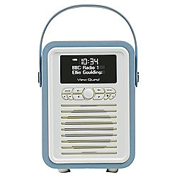 View Quest Retro Mini DAB+/FM Radio with Bluetooth (Blue)