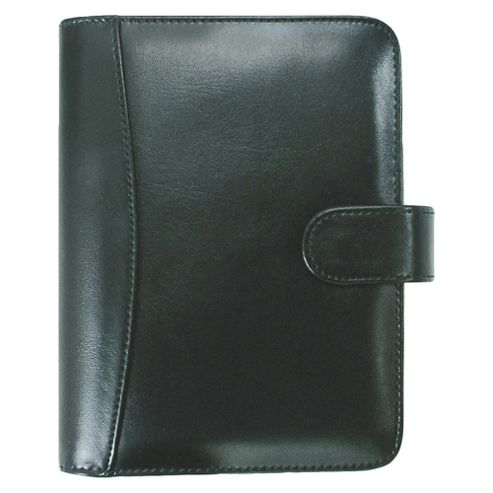 Collins Salisbury A5 Personal Organiser, Leather Effect, Black