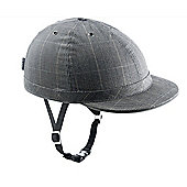 YAKKAY Cambridge Check Helmet: Medium (55-57cm).