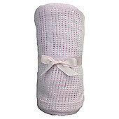 Tesco Cot Bed Cellular Blanket, Pink
