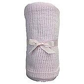 Tesco Cot Bed Cellular Blanket, Pink