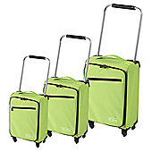 Z Frame 4-Wheel Super-Lightweight Suitcase, Green Large