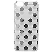 Tortoise Hard Protective Case,iPhone 5/5S, Clear with silver spots.