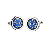Blue Chip Cufflinks
