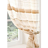 Metropole Voile Curtain Panel - Beige