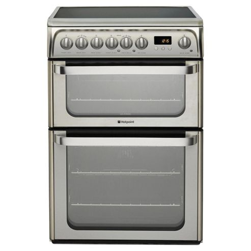Hotpoint HUE61XS, Inox, Electric Cooker, Double Oven, 60cm