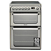 Hotpoint Ultima Electric Cooker with Electric Grill and Ceramic Hob, HUE61X S - Stainless steel