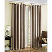 Byron Eyelet Blockout Lined Curtains Natural - 229X229 cm