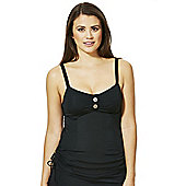 Curvy Kate Luau Love Fuller Bust Tankini Top - Black