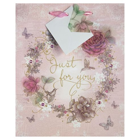 Vintage Rose For You bag - med