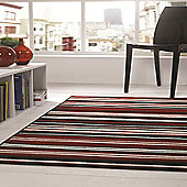 Element Canterbury Red/Black 160x220 cm Rug