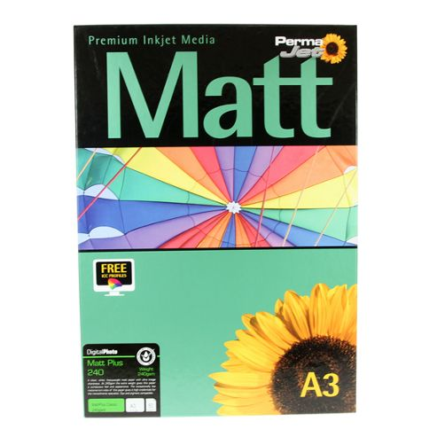 A3 PermaJet Digital Photo Paper Matt/Plus - 240gsm - 50pk