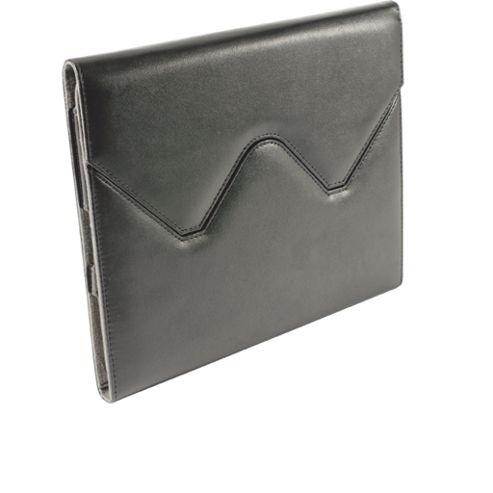 iPad 2 Black Leather Case Stand