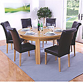 Elements Bari 7 Piece Oak Round Dining Collection