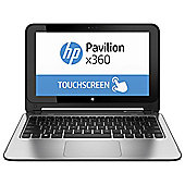 "HP X360 n011na 11.6"" Intel Celeron 4GB RAM 500GB HDD Convertible Touchscreen Laptop Silver"