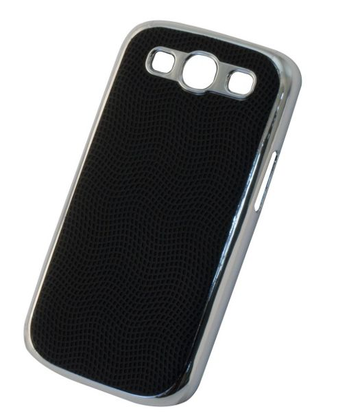 Tortoise™ Hard Case Samsung Galaxy SIII Leatherette Black
