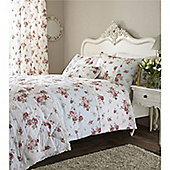 Catherine Lansfield Home Annabella Cotton Rich Fully Lined Curtains 66x72 inches - Duck Egg