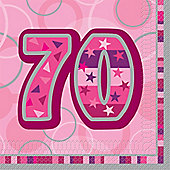 70th Paper Luncheon Napkins 33cm