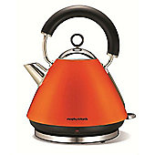 Morphy Richards Accents Traditional Pyramid Kettle - Orange