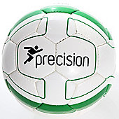 Precision Cordino Match Football (White/Emerald) Size 4
