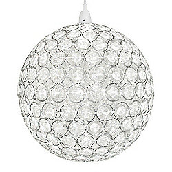 Ducy Large Globe Clear Jewel Ceiling Pendant Light Shade