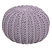 Kaikoo Knitted Ribbed Pouffe, Lilac