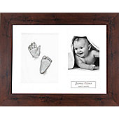 3D Baby Casting Kit - Mahogany effect Frame - Silver Paint