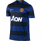 2011-12 Man Utd Away Nike Football Shirt (Kids) - Black