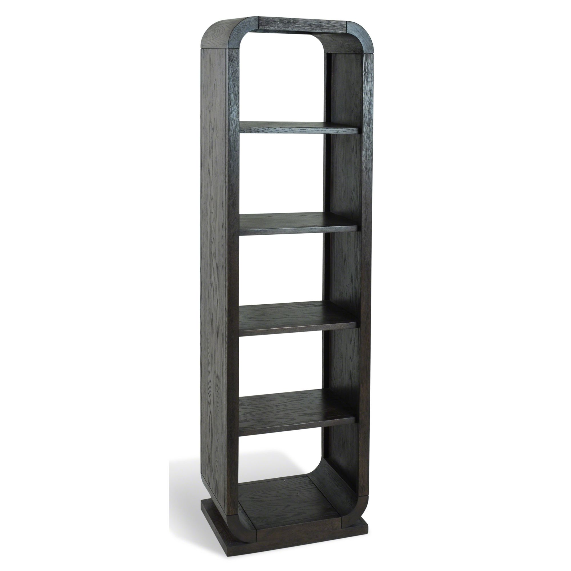 Oceans Apart Cadence Oak Open Back Four Shelves Unit - Dark Oak at Tesco Direct