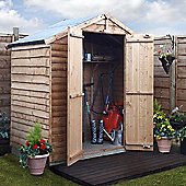 BillyOh 20 Rustic Overlap 4x6 Windowless shed