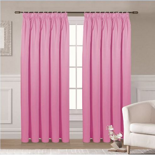 Buy Ripon Thermal Blackout Curtains 46 X 54 Pink From