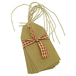 Luggage Tags - 6pk Brown